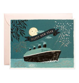 JooJoo Paper New Year Cruise Greeting Card