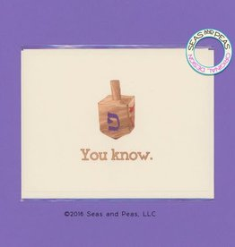 Seas and Peas You Know Dreidel Greeting Card