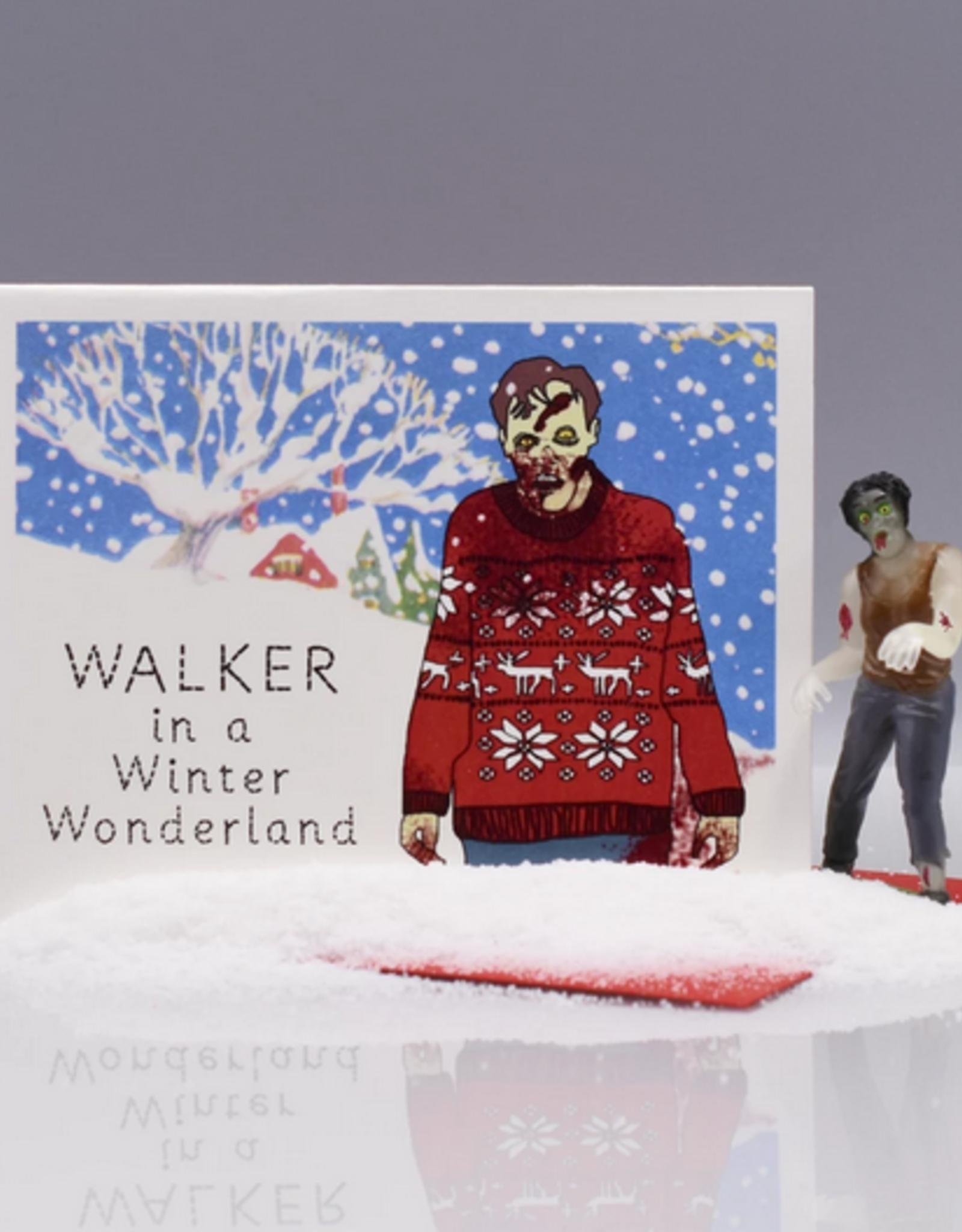 Walker in a Winter Wonderland Greeting Card