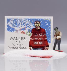 Seas and Peas Walker in a Winter Wonderland Greeting Card