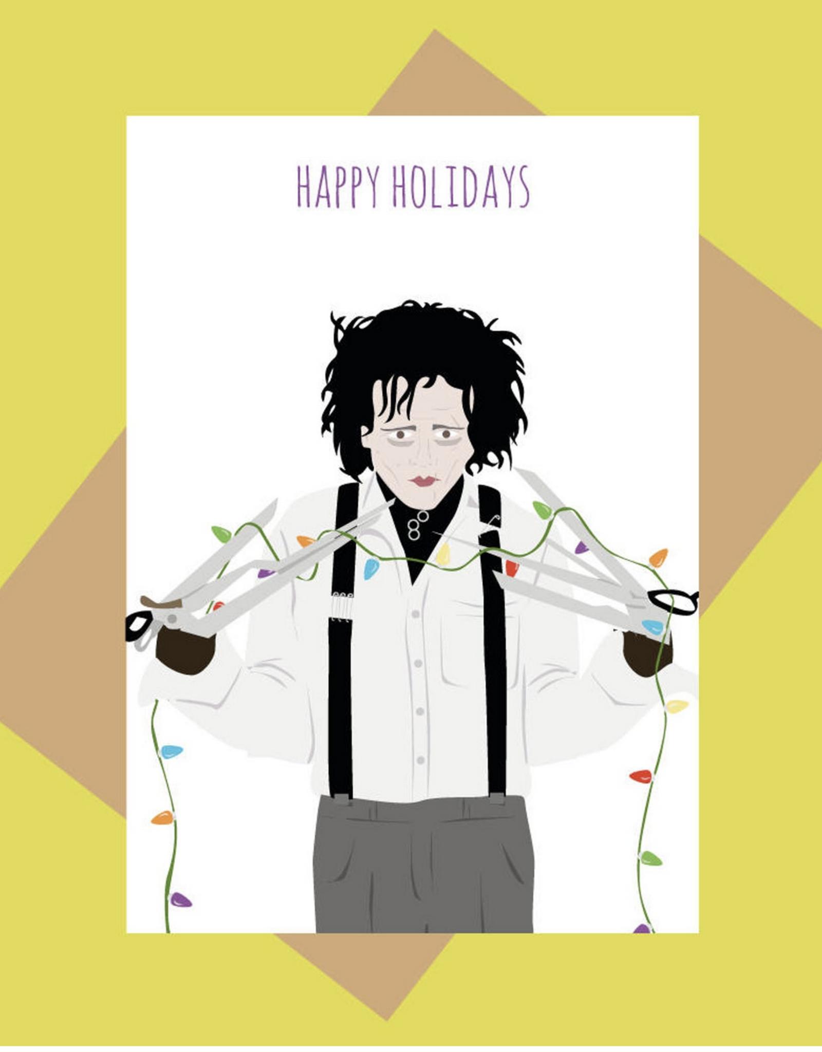 Happy Holidays (Edward Scissorhands) Greeting Card