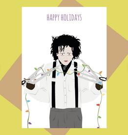 Meet Me in Shermer Happy Holidays (Edward Scissorhands) Greeting Card
