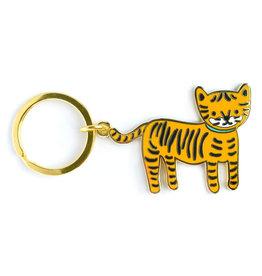 Night Owl Paper Goods Lil Tiger Enamel Keychain