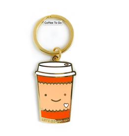 Coffee To-Go Enamel Keychain