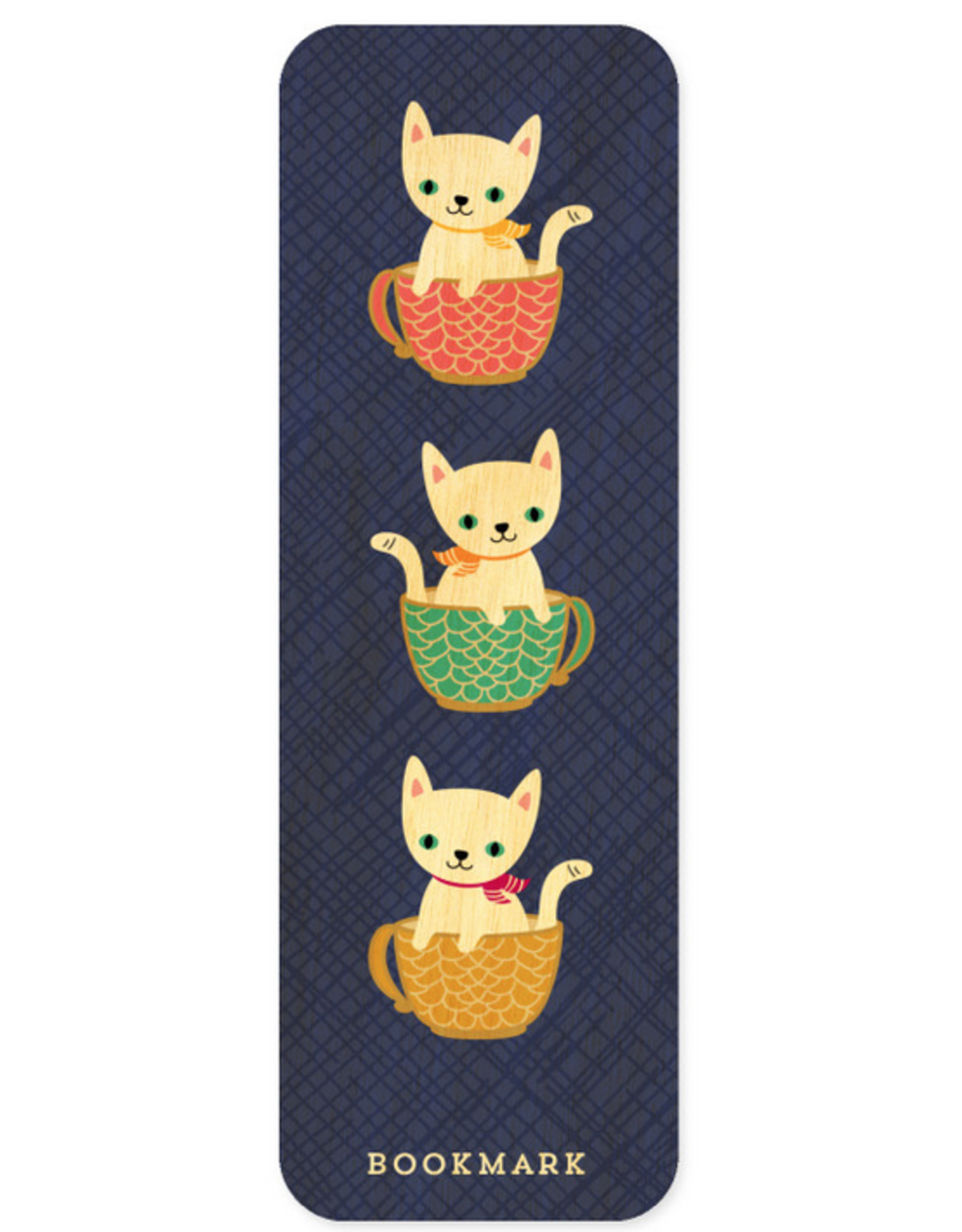Coffee Cats Wooden Bookmark & Enamel Pin Gift Set