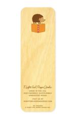 Hedgehog Wooden Bookmark & Enamel Pin Gift Set