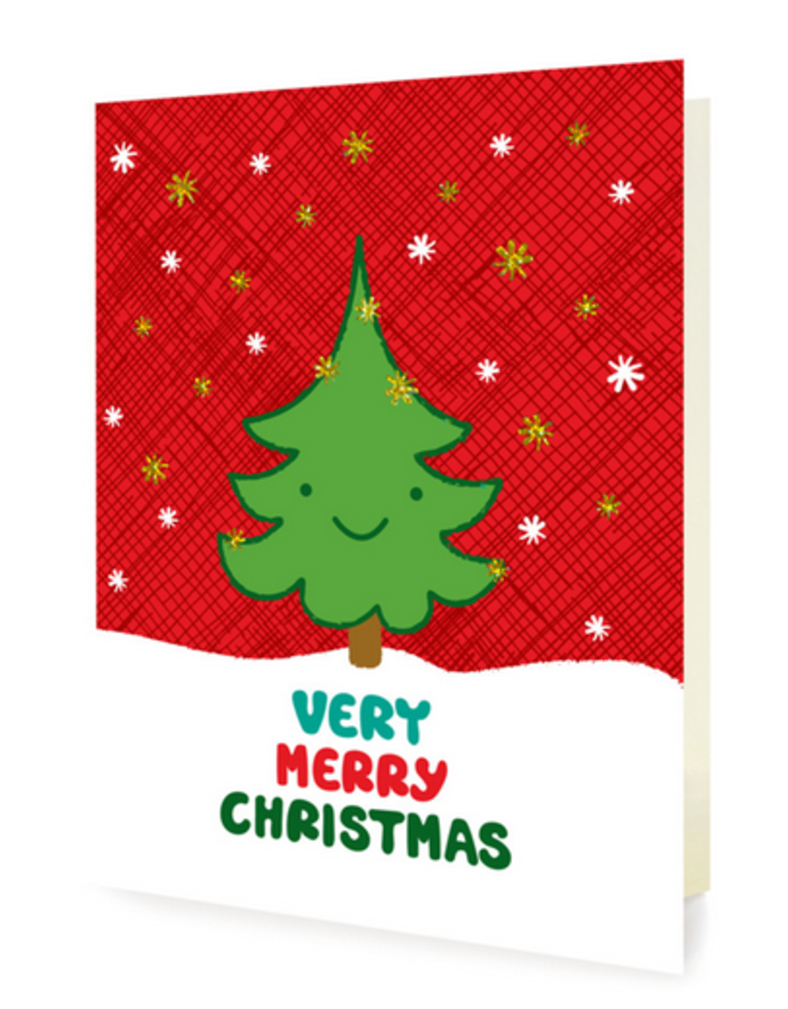 Night Owl Paper Goods Happy Tree Christmas Greeting Card