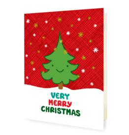 Happy Tree Christmas Greeting Card
