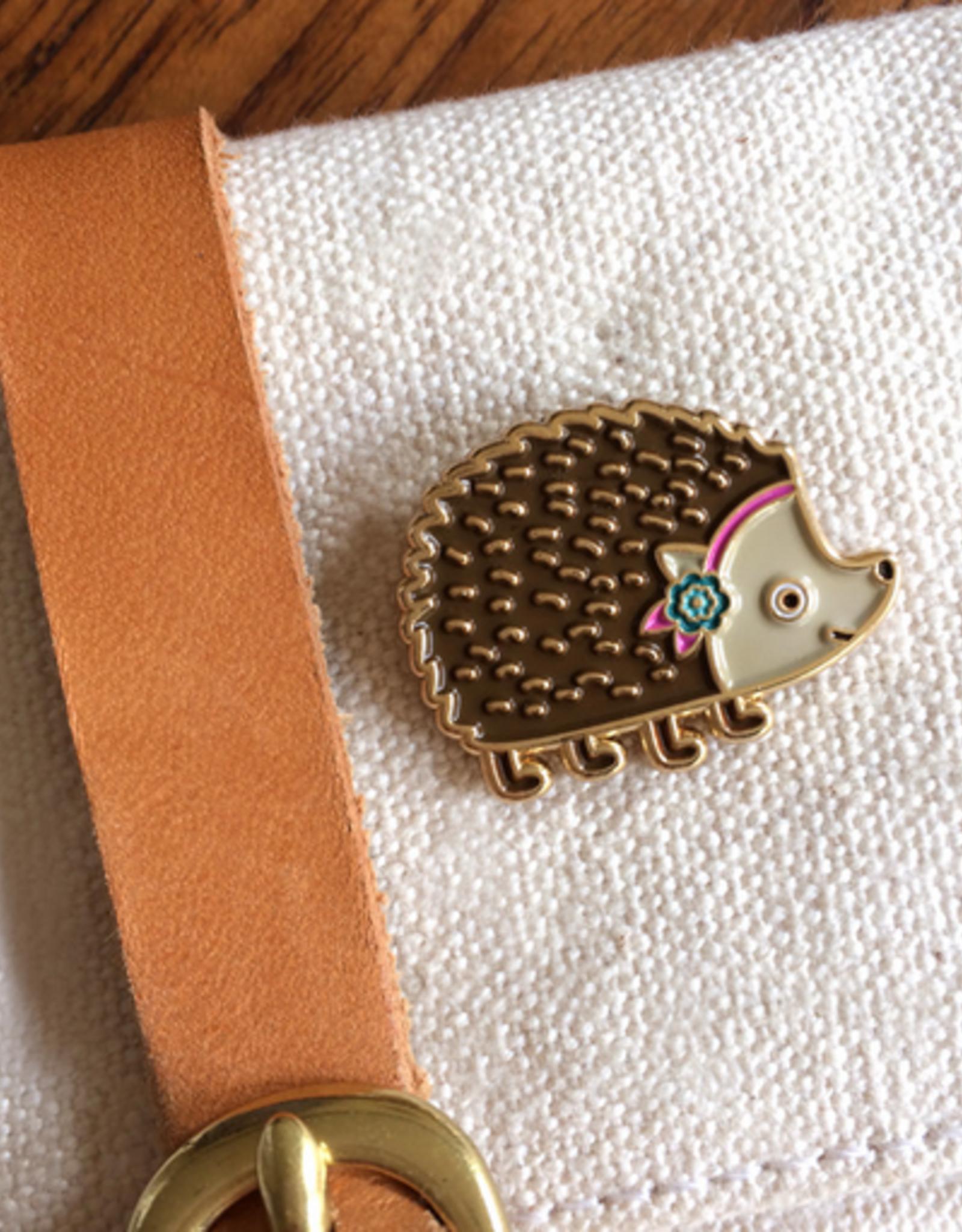 Night Owl Paper Goods Hedgehog Enamel Pin