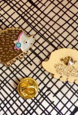Hedgehog Enamel Pin