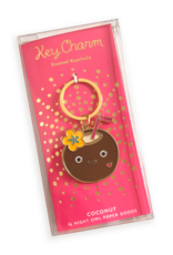Night Owl Paper Goods Coconut Drink Enamel Keychain