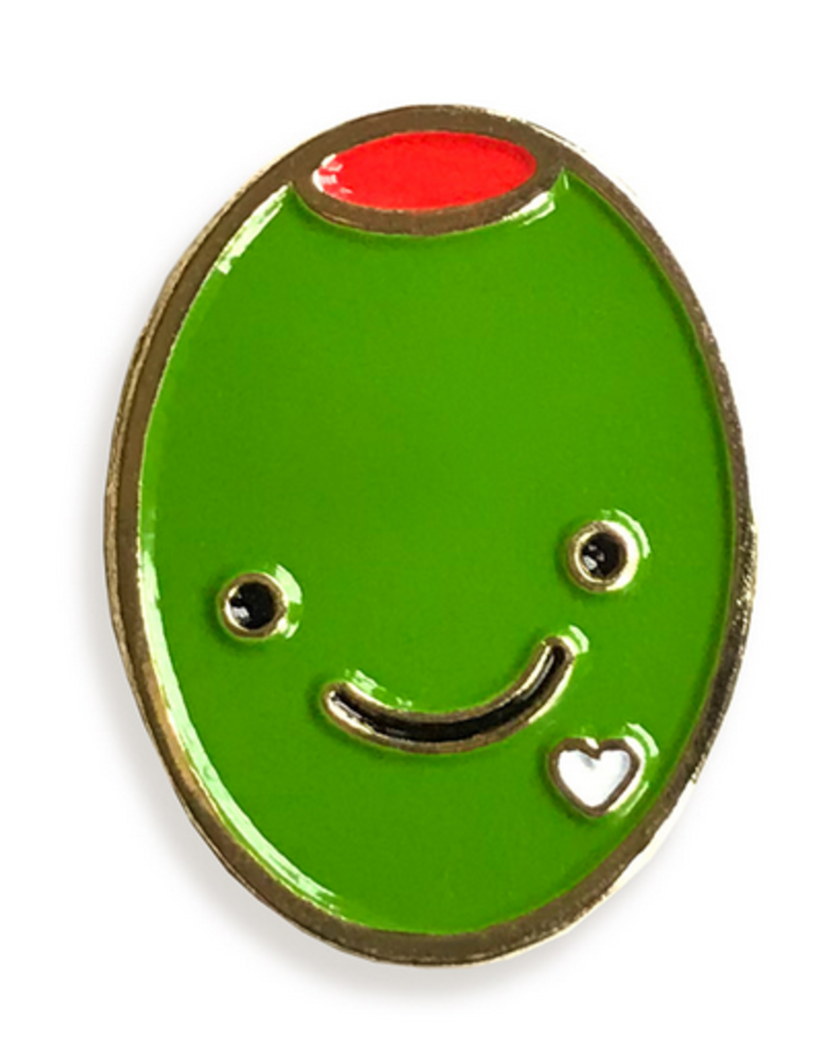 Olive Love Enamel Pin