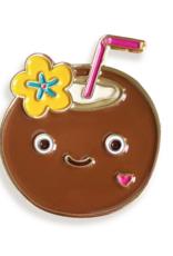 Coconut Drink Enamel Pin