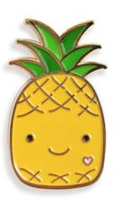 Night Owl Paper Goods Happy Pineapple Enamel Pin