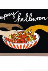 Happy Halloween Candy Corn Scratch n Sniff Greeting Card