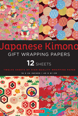 Tuttle Publishing Japanese Kimono Gift Wrapping Papers, 12 Sheets
