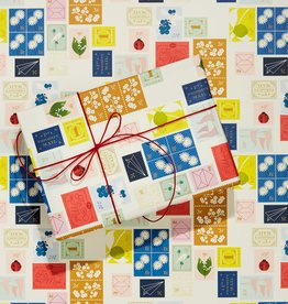 Snow & Graham Stamps Wrapping Paper