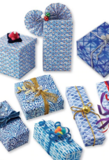 Tuttle Publishing Cool Blue Gift Wrapping Papers, 6 Sheets