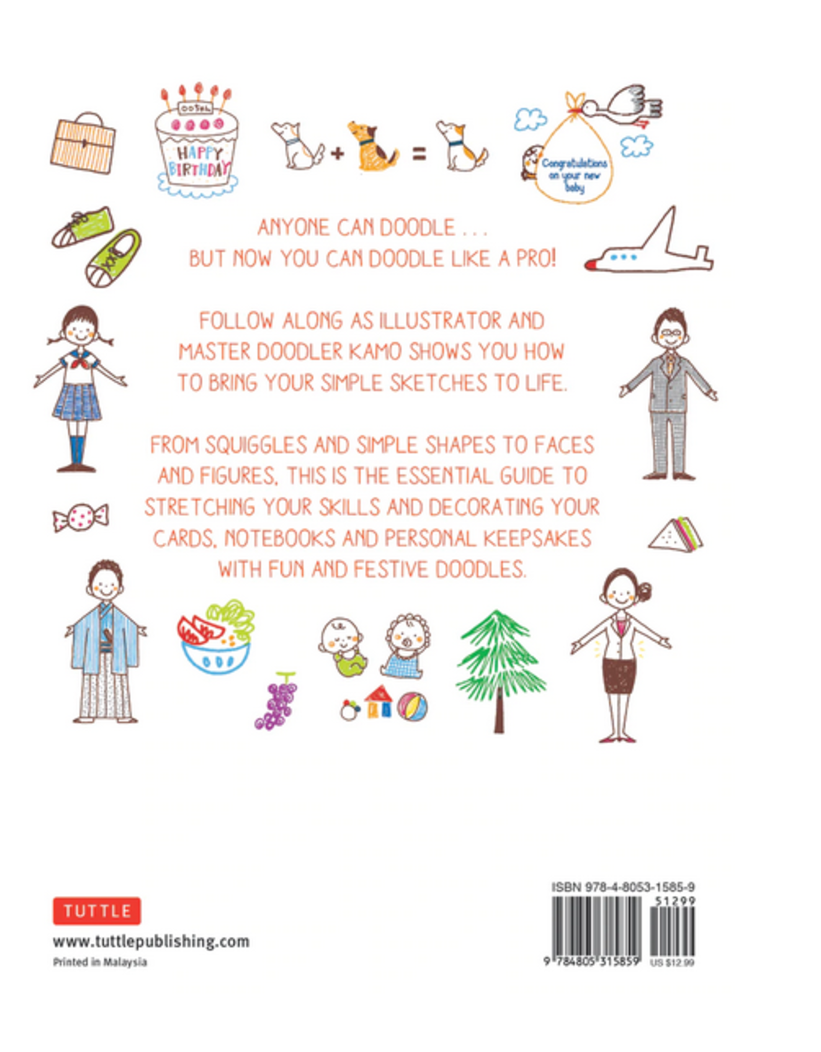Tuttle Publishing How To Doodle Everywhere