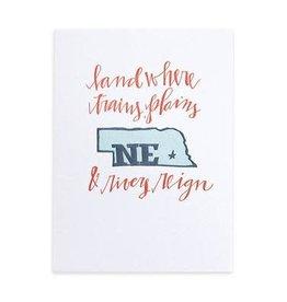 Nebraska Letterpress Print