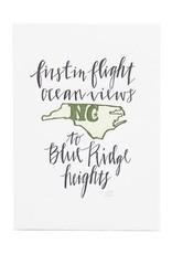 North Carolina Letterpress Print