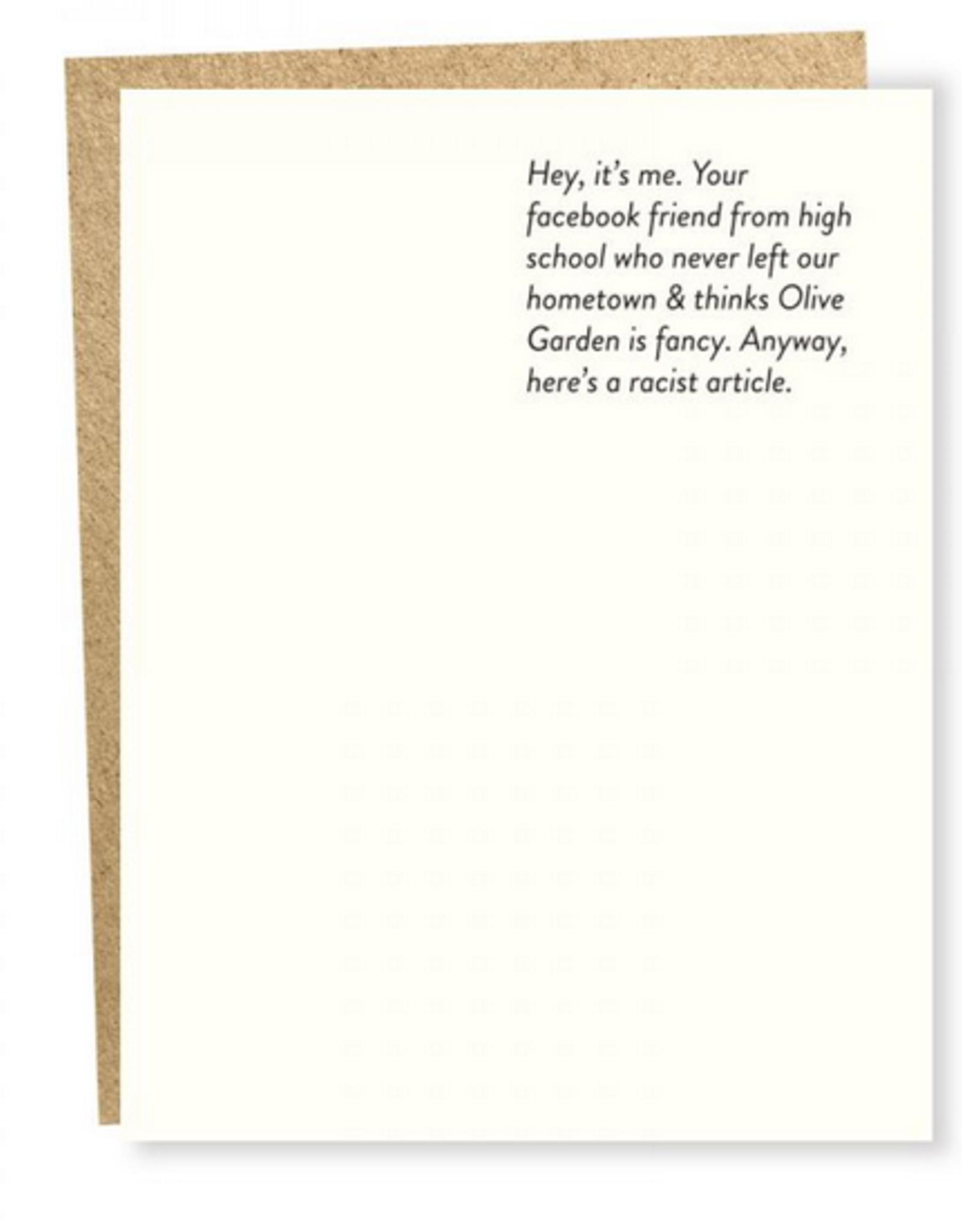 Sapling Press Facebook Friend Greeting Card