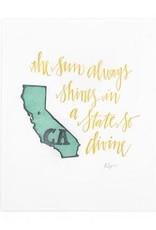 California Letterpress Print