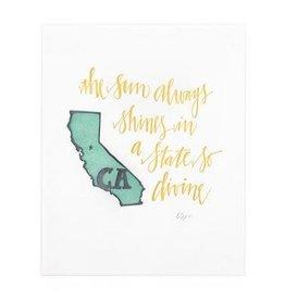 California Letterpress Print - Seconds Sale