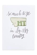 1Canoe2 Letterpress Montana Letterpress Print