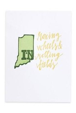 Indiana Letterpress Print