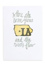 Iowa Letterpress Print