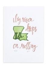 1Canoe2 Letterpress Louisiana Letterpress Print