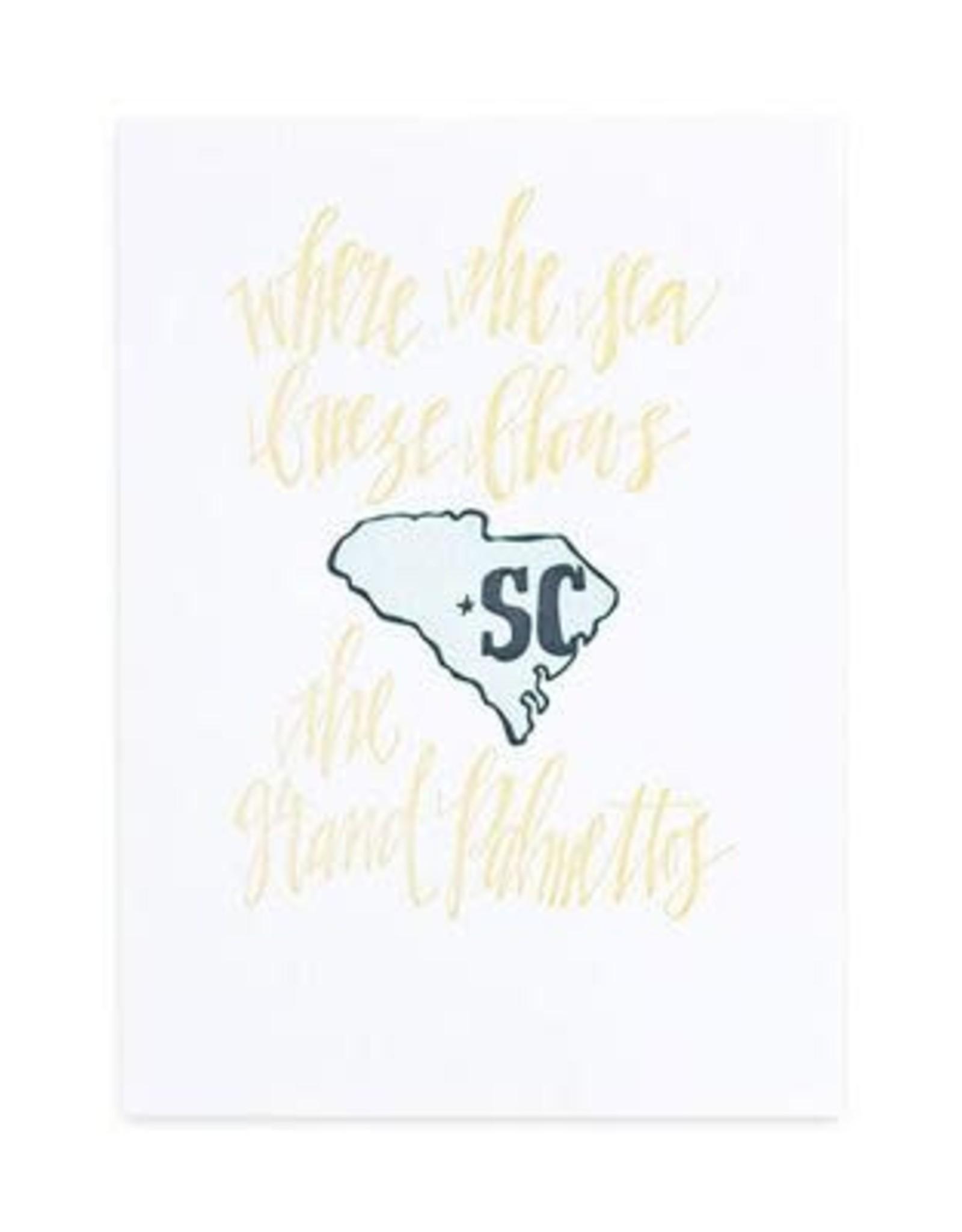 1Canoe2 Letterpress South Carolina Letterpress Print