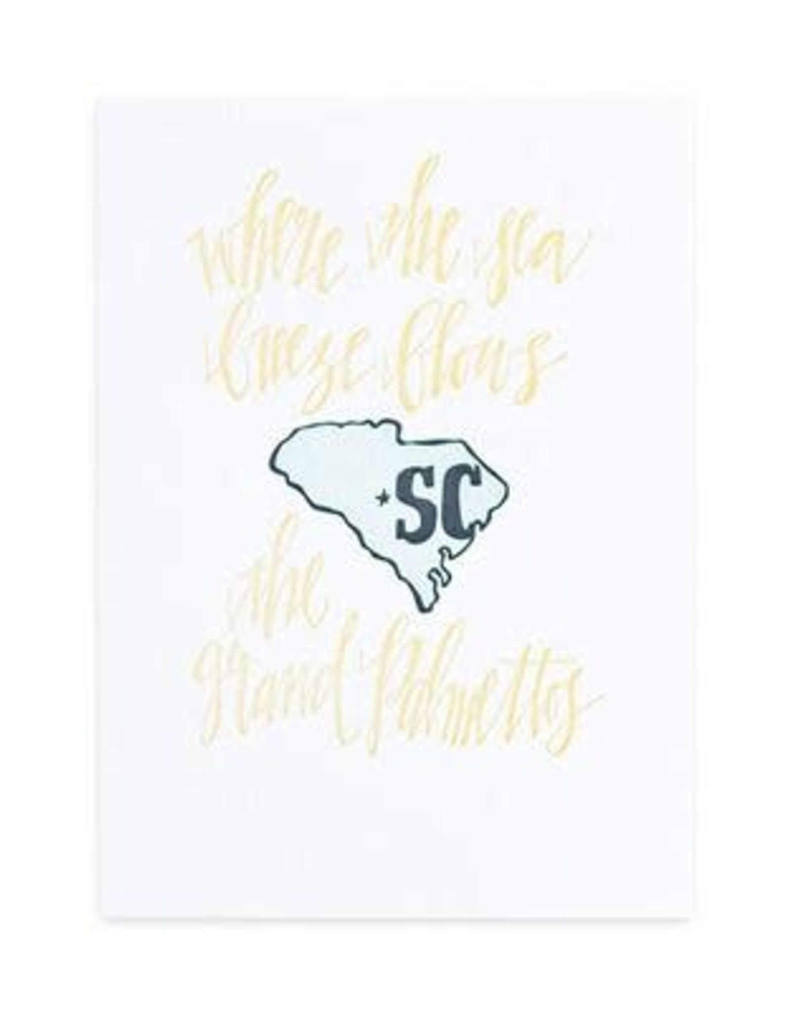 South Carolina Letterpress Print