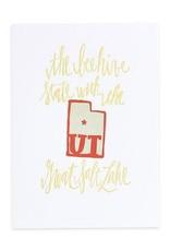 Utah Letterpress Print