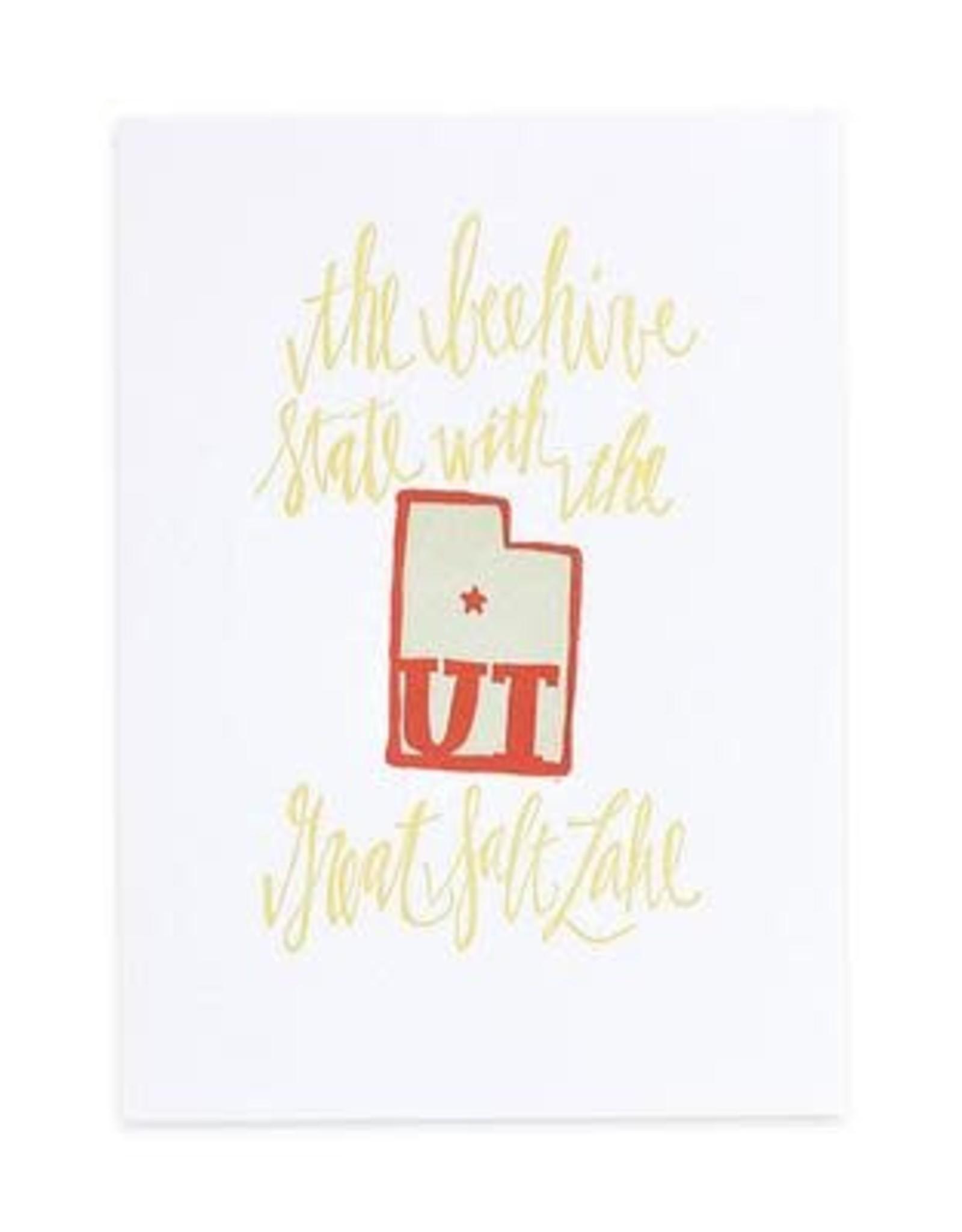 1Canoe2 Letterpress Utah Letterpress Print