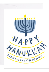 9th Letter Press Happy Hanukkah Eight Crazy Nights Greeting Card