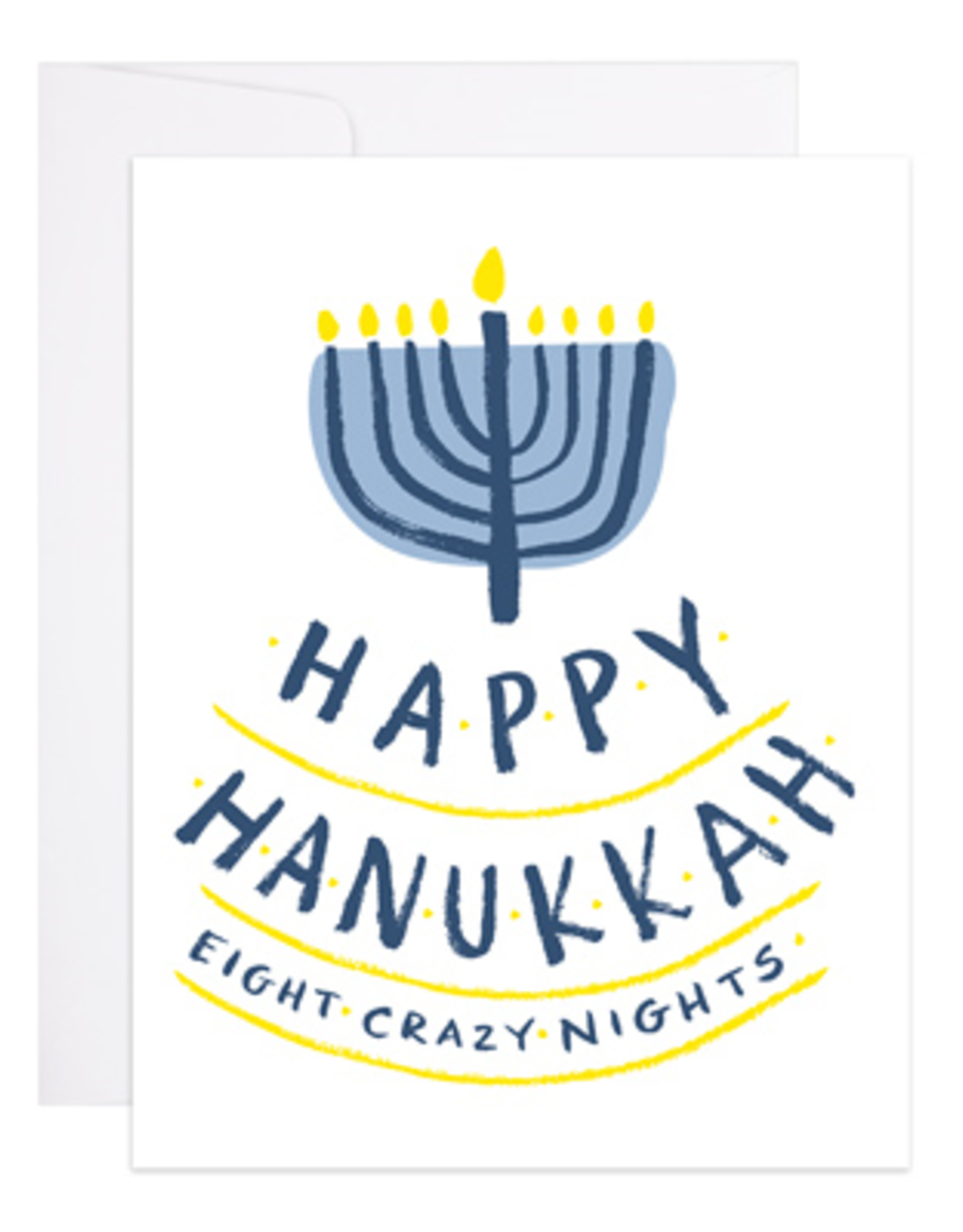 Happy Hanukkah Eight Crazy Nights Greeting Card