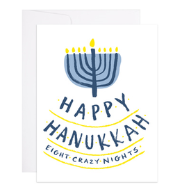 Happy Hanukkah Eight Crazy Nights Greeting Card