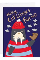 Walrus Christmas Greeting Card
