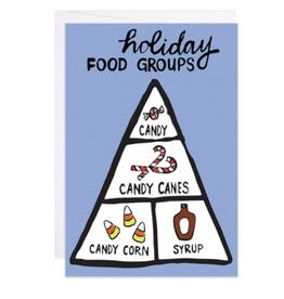 Holiday Food Groups Mini Card