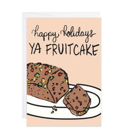 9th Letter Press Happy Holidays, Ya Fruitcake Mini Card