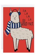 9th Letter Press Fal La La La Llama Mini Card