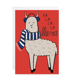 9th Letter Press Fal La La La Llama Mini Card