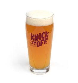 Knock It Off Beer Glass