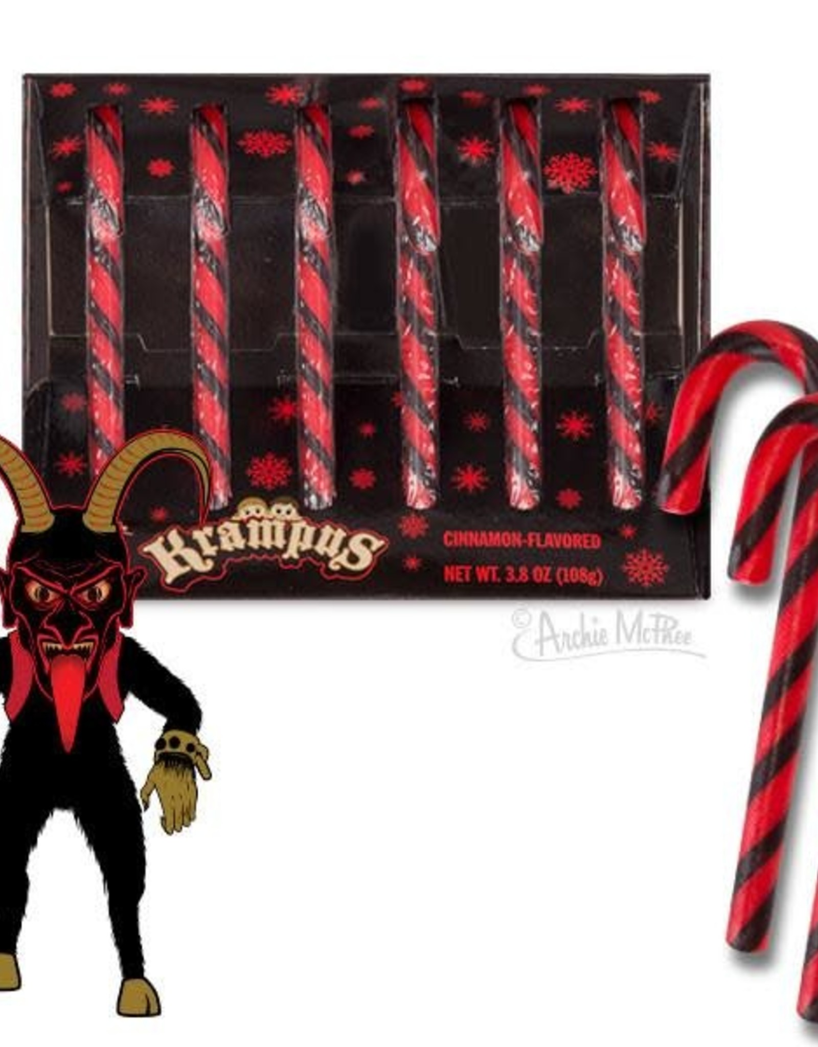 Candy Canes Set of 6 - Krampus