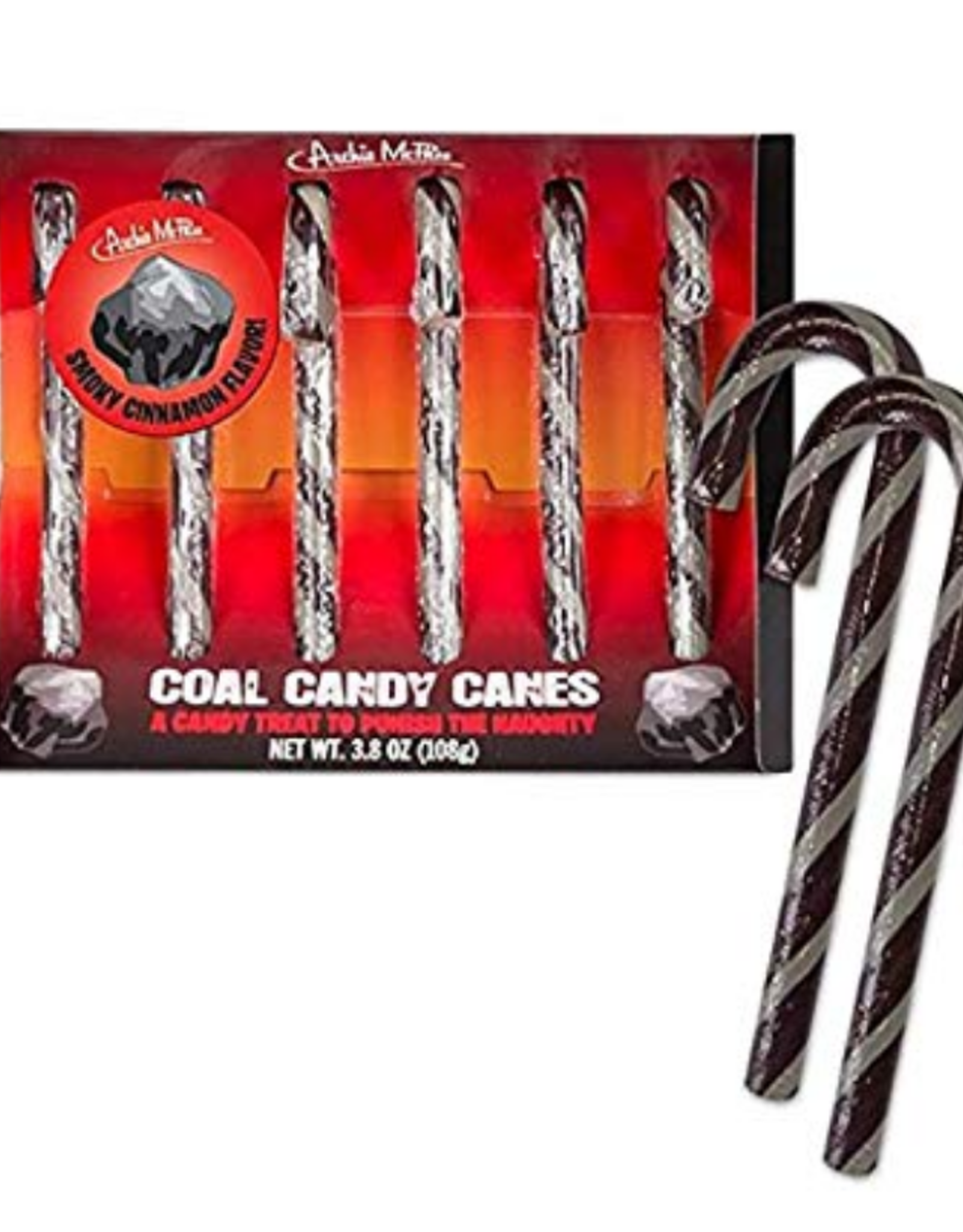 Accoutrements LLC Candy Canes Set of 6 - Coal