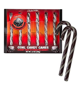 Candy Canes Set of 6 - Coal