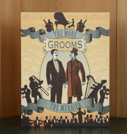 Oddball Press The More Grooms the Merrier Greeting Card