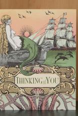 Oddball Press Thinking of You Mermaid & Octopus Greeting Card